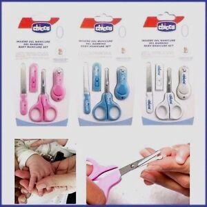 Baby Scissors  Nail Care Cutter Clipper Manicure Pedicure 4 PICES WHITE Set UK