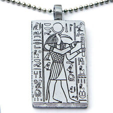 Thoth Egyptian Moon Deity The God of Knowledge Pewter Pendant Silver Ball Chain