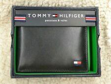 Tommy Hilfiger Men's Leather Passcase Billfold Wallet BLACK