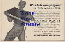 BAD TÖLZ, Werbung 1933, August Moralt Sperr-Holz-Platten Möbel-Werkstätten