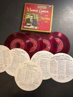 Mario Lanza 4 x 45 Box Set Sings Christmas Songs RCA Victor Red Wax 1951
