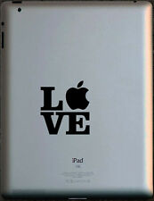 LOVE vinyl sticker for Apple iPad. Various colours available