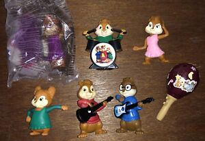 Alvin And The Chipmunks Chipettes Figure Toy Playset Simon Theodore Brittany