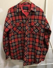 Vtg Northwest Territory Quilt Lined Flannel Shirt Jacket Size Men's M Red Plaid