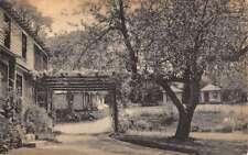 Lanesboro Massachusetts Maple Drive Cabins Street View Antique Postcard K64964