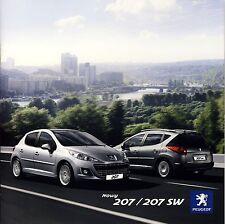 Peugeot 207 et SW 08 / 2009 catalogue brochure polonais