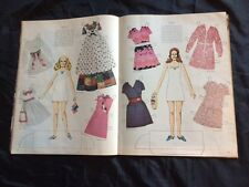 Vintage Three Little Nixons Paper Doll from Life magazine May 8, 1970, Uncut