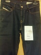 DIESEL INDUSTRY BOOTZEE DARK BLUE JEANS W26 L32 BRAND NEW WITH TAGS RRP  £100.00