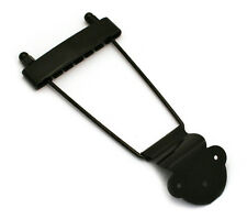 Black Long Standard Trapeze Tailpiece Hollowbody/Archtop/Jazz Guitar TP-ETL-B