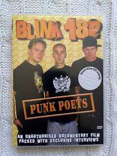 Blink 182 - Punk Poets (DVD, 2004) R-ALL- LIKE NEW-FREE POST IN AUSTRALIA