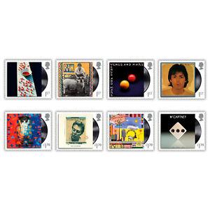 UK 2021 Paul McCartney Music Giants Part V Set of 8 Stamps Mint Unhinged