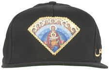 Diamond Supply Co Arabic Mary Snapback Hat Headwear Cap Black