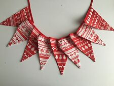 CHRISTMAS SCANDINAVIAN FABRIC ( DOUBLE/SIDED) BUNTING