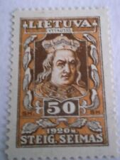 1920 Lithuania National Assembly 50sk Brown/Orange m/m Mi.78. ZA71