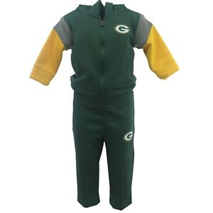 Green Bay Packers NFL Infant Toddler Size 2 Piece Hooded Sweatshirt & Pants Set