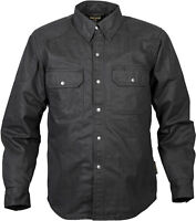 Scorpion Men's COVERT Heavy-Duty Waxed KEVLAR-Lined Riding Shirt (Denim Black)