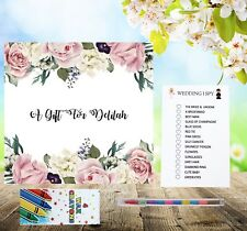 Personalised Childrens Kids Wedding Activity Pack Book Favour 6x6inch S35