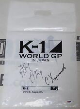 Sergei Kharitonov & Jaideep Singh Signed 2010 K-1 Grand Prix Bag PSA/DNA Pride