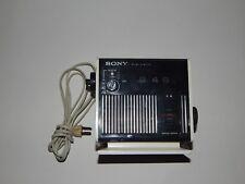Sony Digimatic TR-C340 Flip Alarm Clock AM/FM Radio Solid State Cube Works R1831