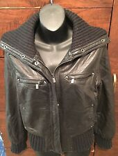 Michael By Michael Kors Black Leather Women's Motorcycle Jacket- Size M!!!
