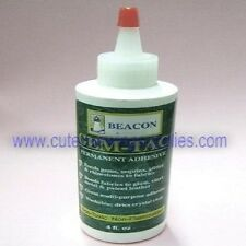 Beacon GEM-TAC Permanent Adhesive Glue 4 Oz. Bonds Gems Sequins Rhinestones