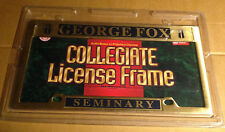 Officially Licensed George Fox Seminary Solid Brass License Plate Frame  NEW