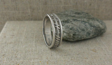 Sterling Silver Celtic Ogham Wedding Ring LOVE FOREVER Irish made BORU Size 8