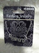 """Fashion Jewelry Necklace With the Word """"Espero"""""""