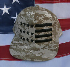 TACTICAL USA FLAG DESERT CAMOFLAUGE HAT CAP US ARMY MARINES NAVY AIR FORCE USCG
