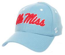 MISSISSIPPI OLE' MISS REBELS NCAA LIGHT BLUE FLEX CAP HAT ZH Z-FIT SIZE: M/L NWT