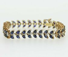 14ct Yellow Gold Sapphire & Diamond Bracelet