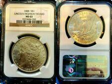 1888 NGC, MS- 63 MORGAN $ {{ HOARD-PEDIGREE }} LINCOLN HIGHWAY HOARD .99 Cents