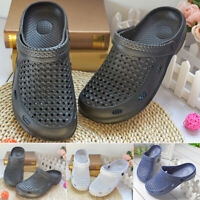 Mens Garden Slippers Pool Beach Slip On Sports Sandals Breathable Shoes Summer