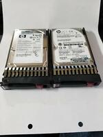 Lot of 2 HP 146GB 10K SAS 2.5 Server Hard Drive 51894-003 507129-002 518194-001