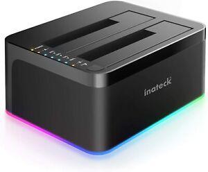 Inateck RGB Festplatten Dockingstation USB 3.0 mit Offline-Klonfunktion