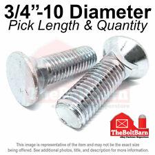 34 10 3 Flat Round Head Grade 5 Plow Bolts Zinc Coarse Pick Length Amp Qty
