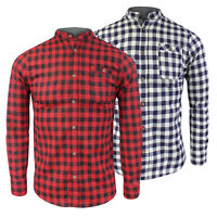 Mens Brave Soul Long Sleeve Brushed Cotton Lumberjack Style Check Shirt New S-XL