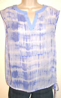 Simply Vera Women's Semi-Sheer Sleeveless Blouse w Drawstring Waist Size XS