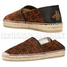 GUCCI men 8 SQUARE G suede BEE Logo ALEJANDRO espadrille shoes NIB Authentc $580