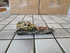 custom hand painted camouflage military flat car with load HO scale.