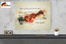 LED Bild Wandbild Leuchtdisplay Musik Geige Musikinstrument Leuchtkasten 40 x 40