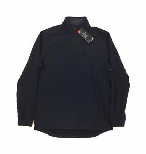 NEW Under Armour 1/4 Zip ColdGear Long Sleeve Jacket Loose Fit Black Mens Size M