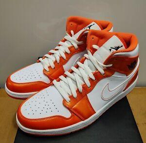 Nike Air Jordan 1 Mid SE Metallic Orange White DM3531-800 New W/Box Size 11 DS