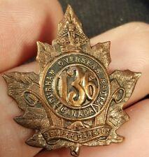 136th Canadian Durham Overseas Battalion Collar Badge WW1 CEF