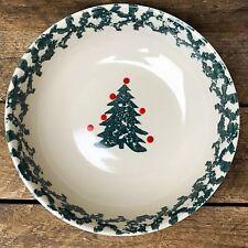 Tienshan Winter Wonderland Spongeware Christmas Tree Soup Bowl