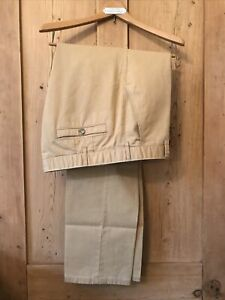 Meyer Cream Cotton Trousers