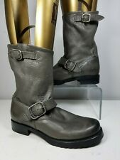 sz 6.5 new Frye boots Veronica womens Short Boot gray leather pull-on