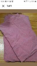 Ralph Lauren Gingham Red Twin Sheet Set