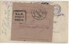 1919 German East Africa India WWI Prisoner of War POW Censored Card DLO Cover