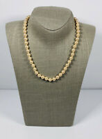 Vintage Necklace Collar Length Individually Knotted Faux Pearls Pretty Kitsch
